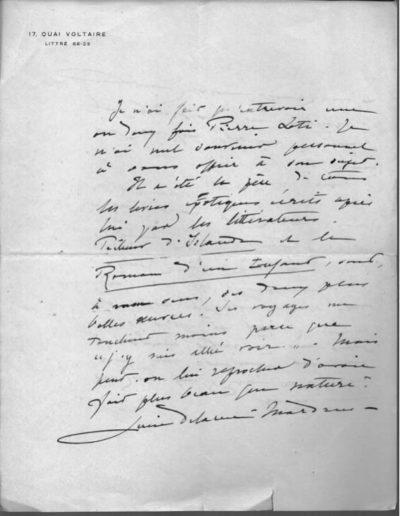 lettre à laplaud sur loti